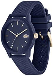 Lacoste TR90 Quartz Watch with Rubber Strap, Blue, 17.2 (Model: 2001067) WeeklyReviewer