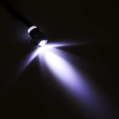 4 Pcs 12v LED Warning Light Indicator Lamp Car Van Boat Indicator Light Pilot Dash Bulbs Directional Lamp, 8mm(White): Automotive