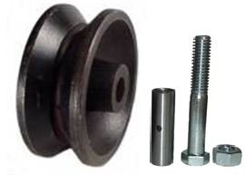 (Mapp Caster Sliding Barn Door V Groove Cast Iron Wheel Kit 3