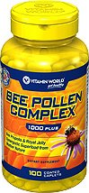 Vitamin World Bee Pollen Complex 1,000 mg. 100 caplets by Vitamin World