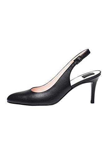 Escarpin Noir Aiguille Femme Loisirs Bureau Cuir Élégante Qualité Faite Chaussure Pour Main No Talon À Ouvert En Shoepassion 1504 Haute Foncé Marron Ou De 0ExqaFA6
