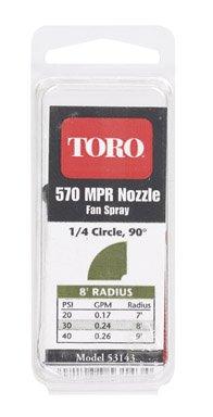 Toro 53143 570 Series Replacement Fixed Spray Nozzle 8'