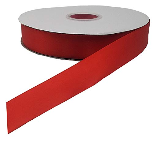 100 Yards 1 inch Wide Solid Satin Ribbon Roll, Gift Wrapping Hair Bows Party Wedding Supply (Red)