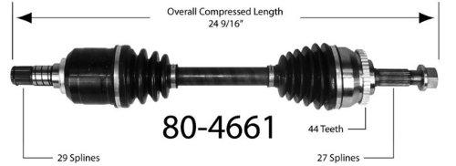 Empi 80-4661 CV Joint Half-Shaft Assembly (Empi Front Left Axle Assembly)