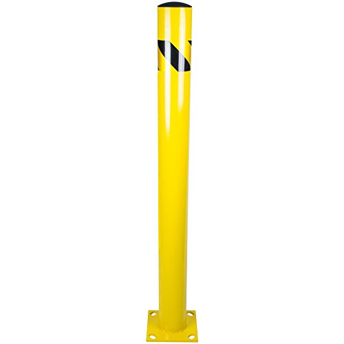 - Bollard Post - Steel Safety Barrier Protection- Yellow Powder Coat 4.5