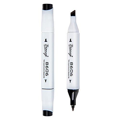 - Dual Tip Art Marker Pen, Permanent Sketch Marker for Outlining Coloring, Black