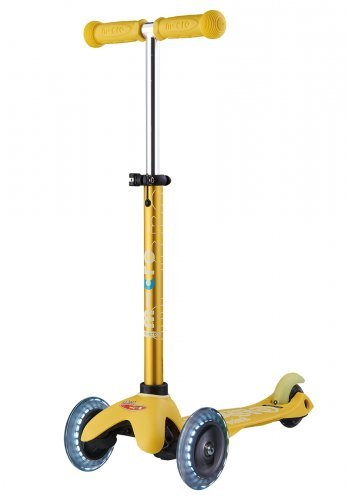 Micro Mini Deluxe LED Kick Scooter (Yellow)