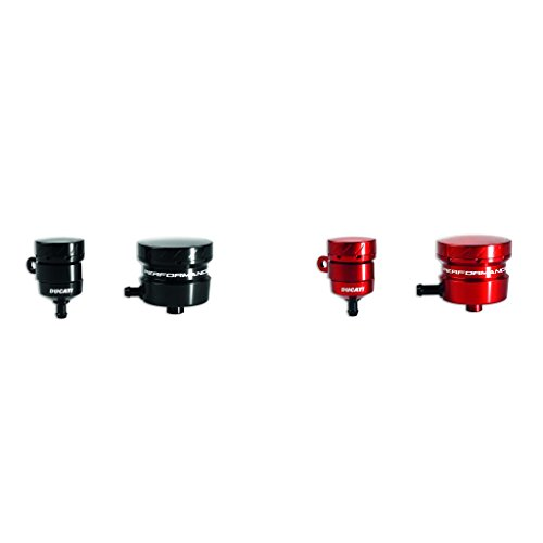 Ducati Panigale Billet Aluminum Brake and Clutch Reservoir Kit-Red by Ducati