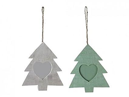 Alberi Di Natale In Legno Da Appendere : Cornice portafoto in legno da appendere all albero di natale