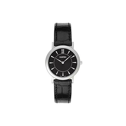 Roamer of Switzerland Women's 28mm Black Leather Band Steel Case S. Sapphire Quartz Watch 934857 41 55 09
