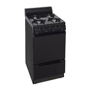 Premier 20 in. 2.42 cu. ft. Gas Range in Black (SAK100BP)