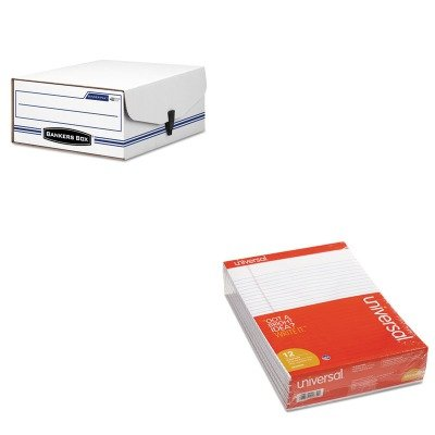 KITFEL48110UNV20630 - Value Kit - Bankers Box Liberty Binder-Pak Storage Box (FEL48110) and Universal Perforated Edge Writing Pad (UNV20630) ()
