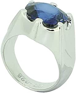 Fashion Ring For Men Silver 925,Inlaid With Zirconia,Size 55,RT-28