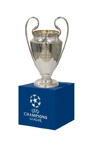 Uefa Trophy Replica Champions League 45mm On Wooden Base, Silver,