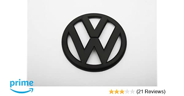 5f53cf80c7a8 Amazon.com  Euro Style Matte Black Rear Trunk Emblem For VW Golf MK6 1.4T  2.0T GTI TDI  Automotive
