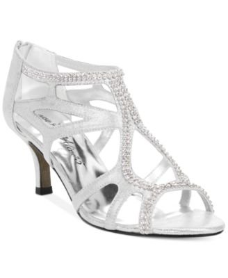 Easy Street Womens Flattery Evening Sandals Silver 7.5 M
