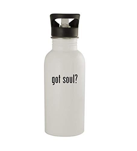 Knick Knack Gifts got Soul? - 20oz Sturdy Stainless Steel Water Bottle, White