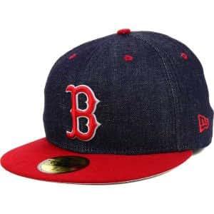 Amazon.com   New Era Boston Red Sox MLB Team Color Denim 59FIFTY Cap ... f48b5c29225