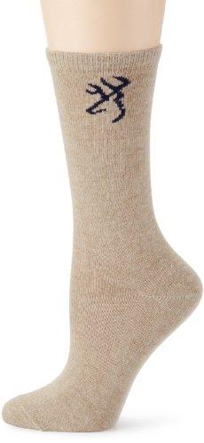 Browning Hosiery Women's Ladies Angora Blend Sock, 2 Pair Pack Socks/Hosiery (Khaki, Medium) ()