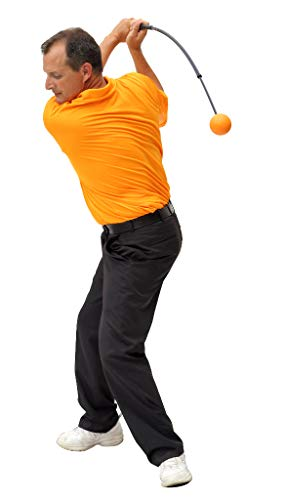 Orange Whip Compact Golf Swing Trainer Aid for Improved Rhythm, Flexibility, Balance, Tempo, and Strength - 35.5""