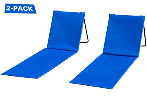 Beach Lounger - Two Beach Chairs with Backrest - 2-Pack Lounger - Comfortable, Lightweight, Portable and Easy to Carry Around - Use Also As Picnic Or Park Chair