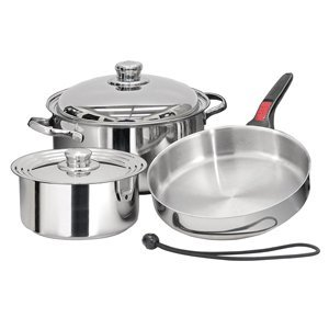 7 piece pot and pan set - 9