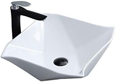 DS- バスルームの洗面台、カウンタ流域上記の家庭用セラミックは、3つのサイズの数(タップ無し)バニティ単一流域を、シンク 洗面ボール && (Size : 40X40X13.5CM)