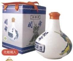 関帝 白磁陳年10年紹興酒(化粧箱付き)17度、500mlX12本(1ケース売り)、景徳鎮の壷に入った最高級の10年紹興酒♪