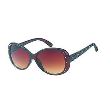 Chic-net lunettes de soleil pour femme style glamour avec verres teinte design style aviateur en cuir avec boucle Rouge rouge j9kCeM