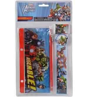 (Marvel Avengers Assemble 4 Piece Stationery Set Multi 68271MZ 4)