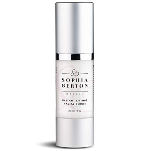 Sophia Berton Berlin Instant Lifting Facial Serum for Firm Skin Structure, Overall Skin Tone Improvement and with Anti-aging properties, 1oz/30ml