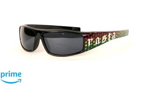 8f4a64809e913 Amazon.com  Rasta Jamaican Leaf Black Sunglasses  Clothing