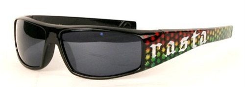 36fe201f71203 Image Unavailable. Image not available for. Color  Rasta Jamaican Leaf Black  Sunglasses
