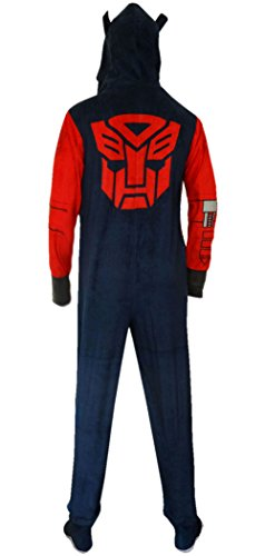 Transformers Optimus Prime Adult One-Piece Hooded Pajama (Medium)