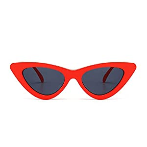 cute sexy retro cat eye sunglasses triangle vintage sunglasses red female uv400