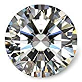 Moissanite DF Colorless Simulated Diamond Loose Stone by Van Rorsi&Mo, Round Brilliant Cut Excellent Cut VVS Clarity