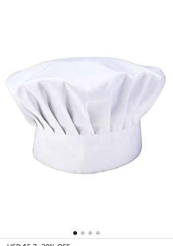 Newshine Baker Chef Hat adjustable White by NewShine