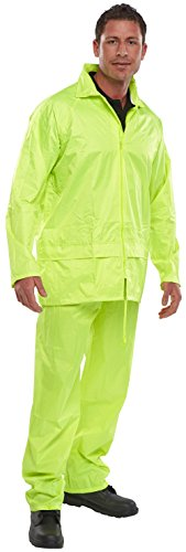B Dri Weatherproof Nylon B-Dri Jacket Sat/Yellow Hi-Vis - Large