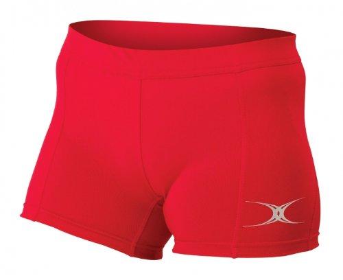GILBERT Eclipse Shorts de Netball Señora Rojo