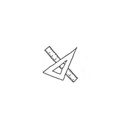 Stamp Ruler (Ruler & Triangle)
