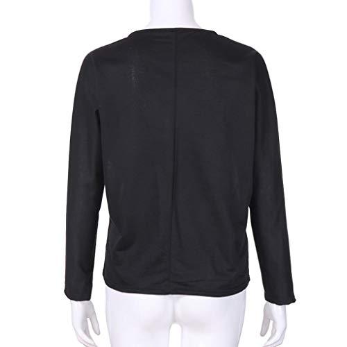 Imprim Femme Chic Hauts Manches Tops Femme De T Swag O Longues Carreaux Blouse Black Couleur Cou Bloc Top Sweatshirts Shirt Tunique Femmes Dcontract Chemise ZFXUpSpq