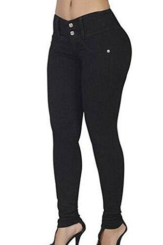 In Lunghi Le Alto Black Donne Denim Jeans Yulinge Pantaloni Caviglia HvAq7EEn