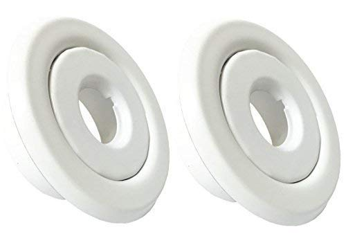 "Happy Tree (2 Pack) 1/2"" IPS Fire Sprinkler Head Escutcheon Ring Standard Recessed Cover Two Piece Rosette White"