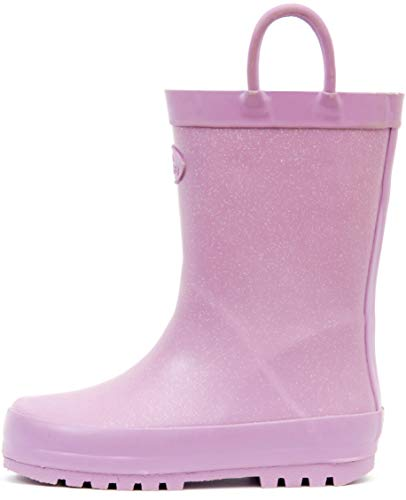 Pictures of Outee Toddler Girls Kids Rain Boots Rubber GLR18AGLTPUR8 5
