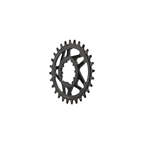(Wolf Tooth Components Elliptical Direct Mount Drop-Stop 28T Chainring: For SRAM GXP Cranks with Removable Spiders Bla)