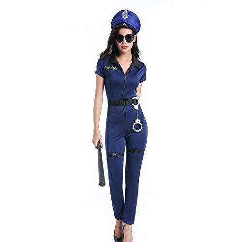 Fashion-Cos1 Halloween Women Police Costume Cosplay Uniform Officer