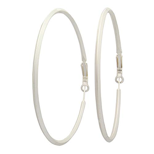 Costumes Jewellery Definition - Prismatic Hoop Earrings Matte Fashion Costume