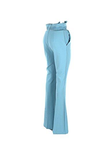 Pantalone Donna Elisabetta Franchi 44 Celeste Pa14682e2 Primavera Estate 2018