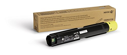 Genuine Xerox Yellow High Capacity Toner Cartridge (106R03758) - 10,100 Pages for use in VersaLink C7000