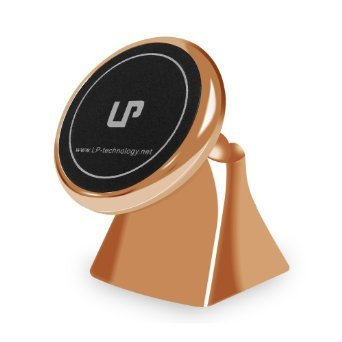 LP Magnetic Car Mount, 360 Degrees Universal Magnetic Car Mount Holder (Rose)